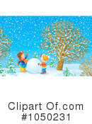 Snowman Clipart #1050231 by Alex Bannykh