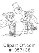 Royalty-Free (RF) snowman Clipart Illustration #1057138