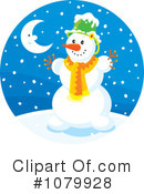 Snowman Clipart #1079928 by Alex Bannykh