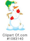 Snowman Clipart #1083140 by Alex Bannykh