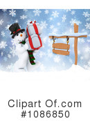 Royalty-Free (RF) Snowman Clipart Illustration #1086850