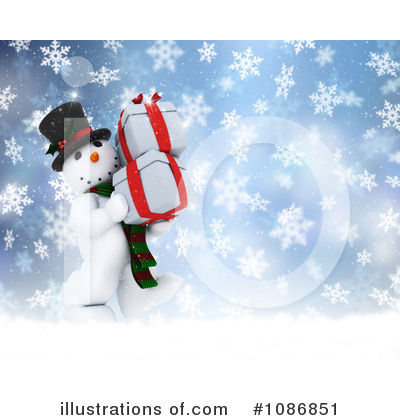 Royalty-Free (RF) Snowman Clipart Illustration by KJ Pargeter - Stock Sample #1086851