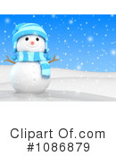 Royalty-Free (RF) snowman Clipart Illustration #1086879