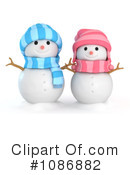 Royalty-Free (RF) snowman Clipart Illustration #1086882