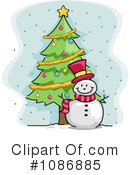 Royalty-Free (RF) Snowman Clipart Illustration #1086885