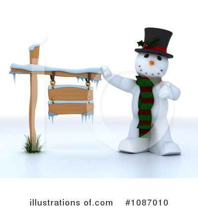 Royalty-Free (RF) Snowman Clipart Illustration by KJ Pargeter - Stock Sample #1087010