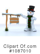 Royalty-Free (RF) Snowman Clipart Illustration #1087010