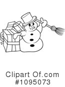 Royalty-Free (RF) Snowman Clipart Illustration #1095073
