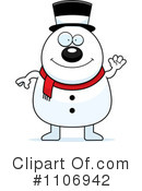 Snowman Clipart #1106942 by Cory Thoman