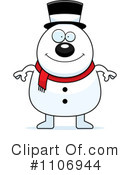 Royalty-Free (RF) snowman Clipart Illustration #1106944