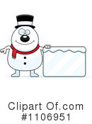 Snowman Clipart #1106951 by Cory Thoman