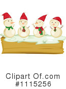 Royalty-Free (RF) Snowman Clipart Illustration #1115256