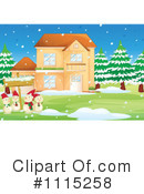 Royalty-Free (RF) Snowman Clipart Illustration #1115258