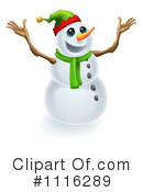 Royalty-Free (RF) snowman Clipart Illustration #1116289