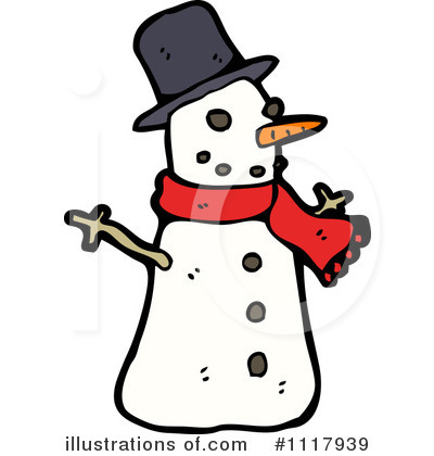 Snowman Clipart #1117939 by lineartestpilot