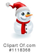 Royalty-Free (RF) Snowman Clipart Illustration #1118368