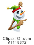 Royalty-Free (RF) Snowman Clipart Illustration #1118372