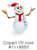 Royalty-Free (RF) snowman Clipart Illustration #1118850