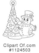 Snowman Clipart #1124503 by visekart