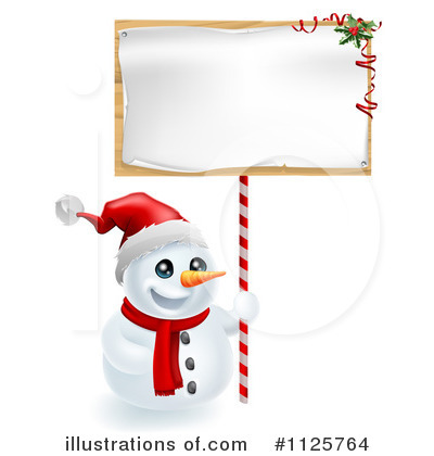 Snowman Clipart #1125764 by AtStockIllustration