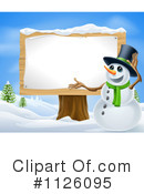 Snowman Clipart #1126095 by AtStockIllustration