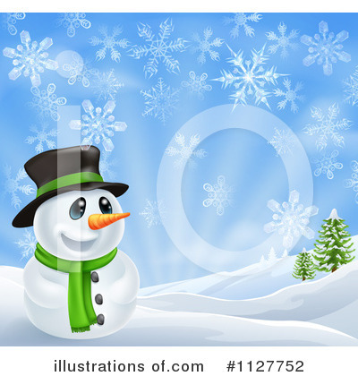 Snowman Clipart #1127752 by AtStockIllustration