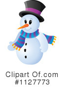 Royalty-Free (RF) Snowman Clipart Illustration #1127773