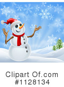 Snowman Clipart #1128134 by AtStockIllustration