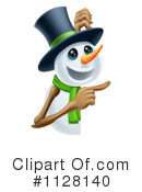Snowman Clipart #1128140 by AtStockIllustration