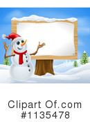 Snowman Clipart #1135478 by AtStockIllustration