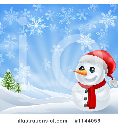 Snowman Clipart #1144056 by AtStockIllustration