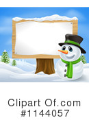 Snowman Clipart #1144057 by AtStockIllustration