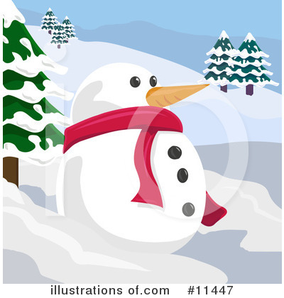 Snowman Clipart #11447 by AtStockIllustration
