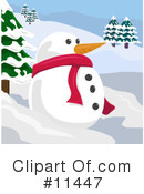 Royalty-Free (RF) Snowman Clipart Illustration #11447