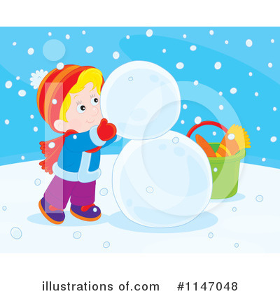 Snowman Clipart #1147048 by Alex Bannykh