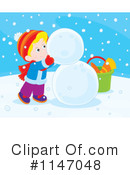 Royalty-Free (RF) Snowman Clipart Illustration #1147048