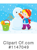 Snowman Clipart #1147049 by Alex Bannykh