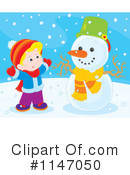 Royalty-Free (RF) Snowman Clipart Illustration #1147050