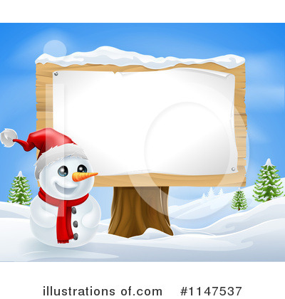 Snowman Clipart #1147537 by AtStockIllustration