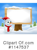 Royalty-Free (RF) Snowman Clipart Illustration #1147537