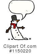 Snowman Clipart #1150220 by lineartestpilot