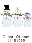 Royalty-Free (RF) Snowman Clipart Illustration #1151095