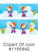 Snowman Clipart #1155842 by Alex Bannykh