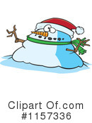 Royalty-Free (RF) Snowman Clipart Illustration #1157336