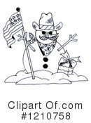 Snowman Clipart #1210758 by LoopyLand