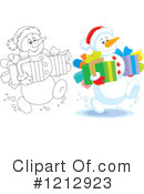 Snowman Clipart #1212923 by Alex Bannykh