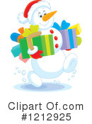 Snowman Clipart #1212925 by Alex Bannykh