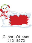 Royalty-Free (RF) Snowman Clipart Illustration #1218573