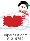 Snowman Clipart #1219759 by Pushkin