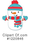 Snowman Clipart #1220846 by peachidesigns